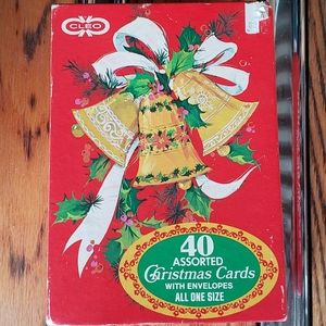 Vintage note cards holiday 60s 70s New old stock